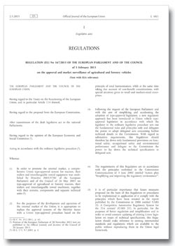 EU 167-2013 regulation